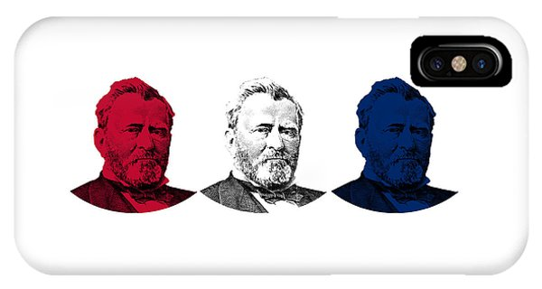 President Grant Red White And Blue IPhone Case