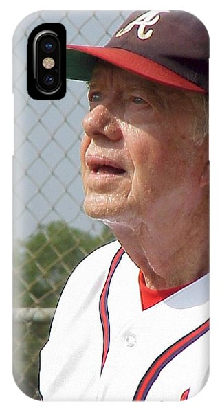 President Jimmy Carter - Atlanta Braves Jersey And Cap IPhone Case