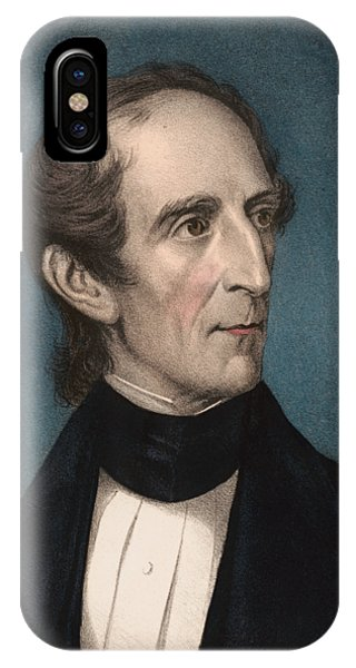 United States Presidents iPhone Case - President John Tyler - Vintage Color Portrait by War Is Hell Store