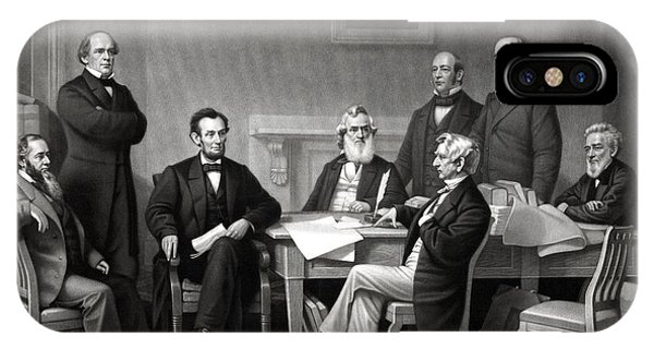 President Lincoln And His Cabinet IPhone Case