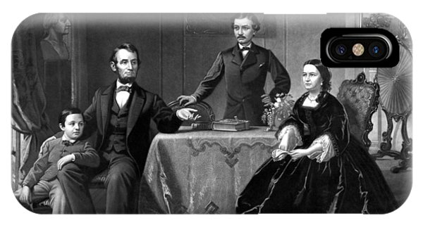 United States Presidents iPhone Case - President Lincoln And His Family  by War Is Hell Store