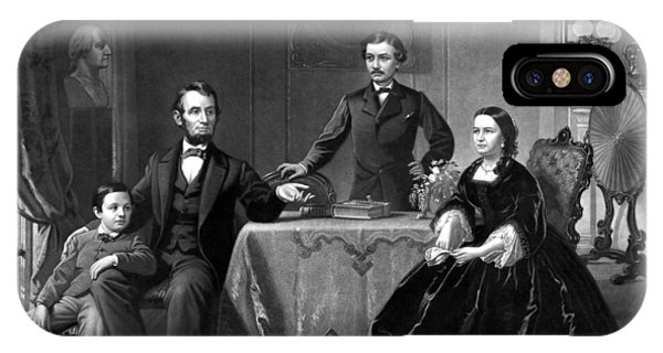 President Lincoln And His Family  IPhone Case