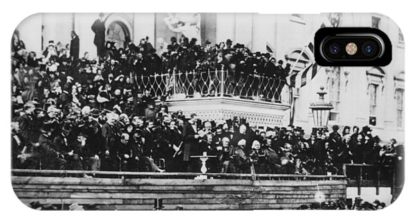 President Lincoln Gives His Second Inaugural Address - March 4 1865 IPhone Case