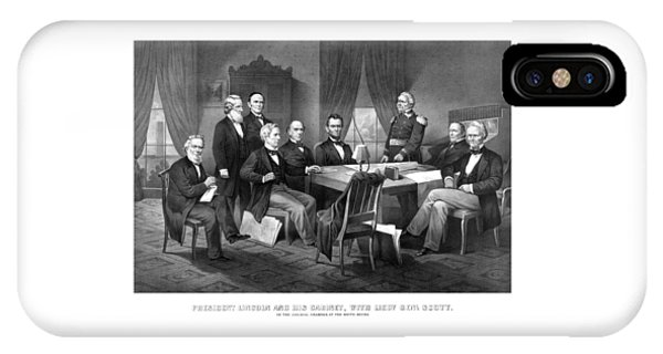 President Lincoln His Cabinet And General Scott IPhone Case