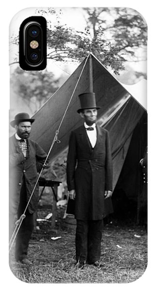 President Lincoln Meets With Generals After Victory At Antietam IPhone Case