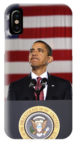 Barack Obama iPhone Case - President Obama by War Is Hell Store