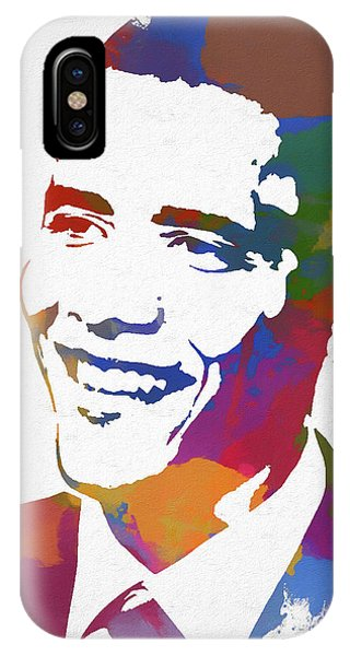 President Obama Watercolor IPhone Case