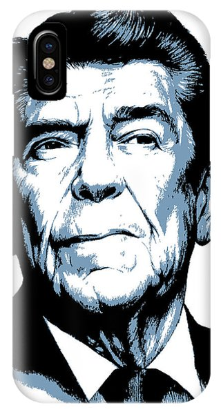 United States Presidents iPhone Case - President Reagan by Greg Joens