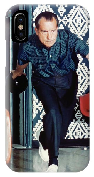 iPhone Case - President Richard Nixon Bowling by Digital Reproductions