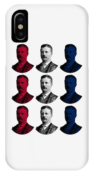 President Teddy Roosevelt - Red, White, And Blue IPhone Case