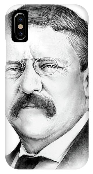 Political iPhone Case - President Theodore Roosevelt 2 by Greg Joens