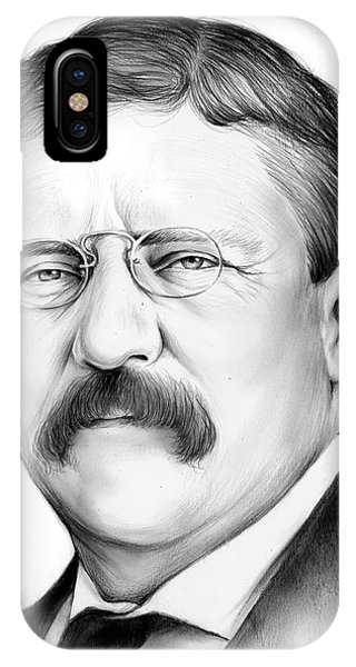 United States Presidents iPhone Case - President Theodore Roosevelt by Greg Joens