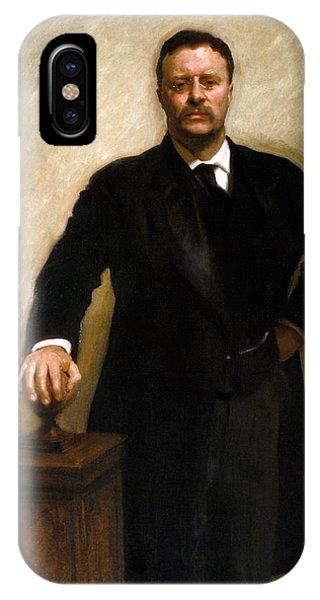 Patriot iPhone Case - President Theodore Roosevelt Painting by War Is Hell Store