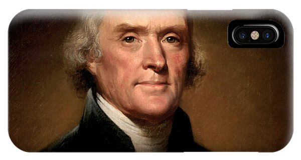 Portraits iPhone Case - President Thomas Jefferson  by War Is Hell Store