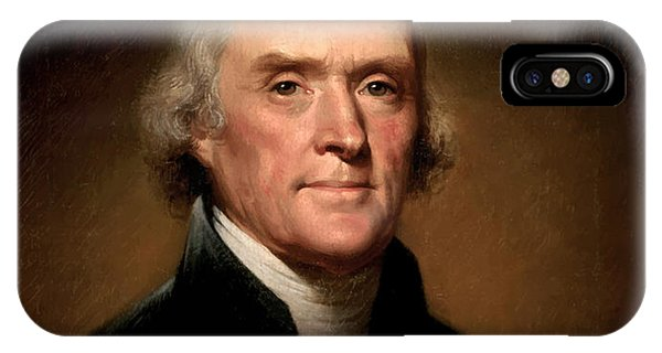 Portraits iPhone X Case - President Thomas Jefferson  by War Is Hell Store