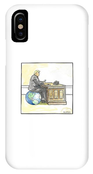 President Trump In The Seat Of Power IPhone Case