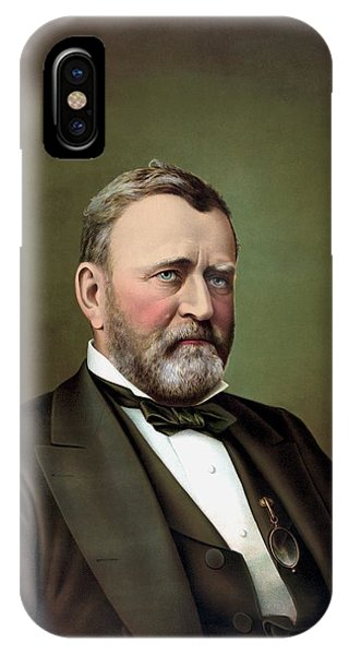 History iPhone Case - President Ulysses S Grant Portrait by War Is Hell Store