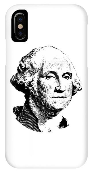 George Washington iPhone Case - President Washington by War Is Hell Store