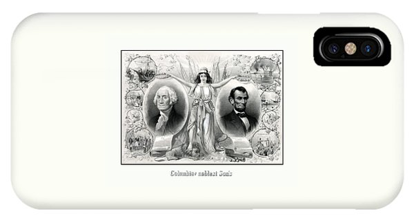 George Washington iPhone Case - Presidents Washington And Lincoln by War Is Hell Store