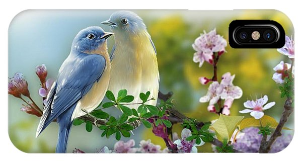 Pretty Blue Birds IPhone Case