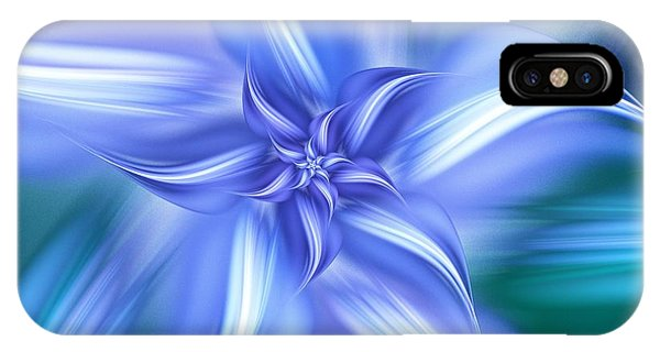 Pretty Blue Flower IPhone Case
