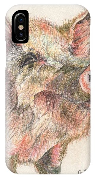 Pretty Imporkant Pig Phone Case by Chris Bajon Jones