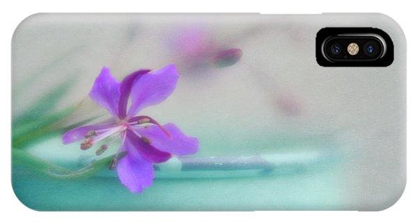 Teal iPhone Case - Pretty In Pastel 3 by Priska Wettstein