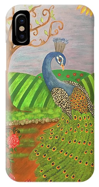 Pretty In Peacock IPhone Case