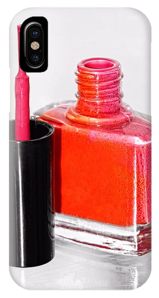 Pretty In Pink Finger Nail Polish IPhone Case