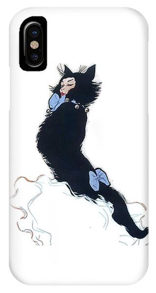 IPhone Case featuring the digital art Pretty Kitty by ReInVintaged