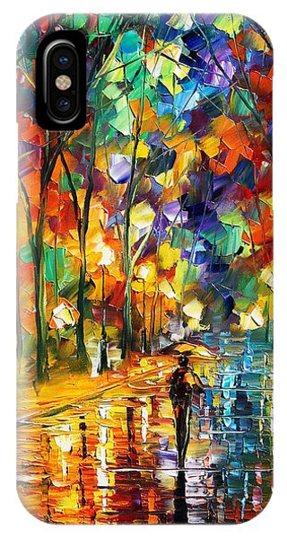 Pretty Night - Palette Knife Oil Painting On Canvas By Leonid Afremov IPhone Case