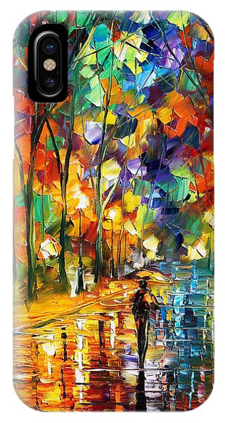 iPhone Case - Pretty Night - Palette Knife Oil Painting On Canvas By Leonid Afremov by Leonid Afremov