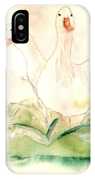 IPhone Case featuring the painting Pretty Pekins by Denise Tomasura