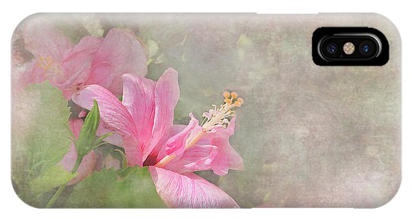 Pretty Pink Hibiscus IPhone Case