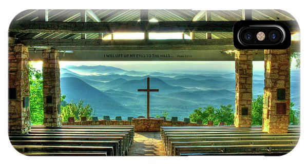Pretty Place Chapel The Son Has Risen Blue Ridge Mountain Art IPhone Case