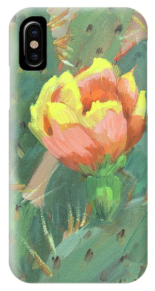 Pears iPhone Case - Prickly Pear Cactus Bloom by Diane McClary