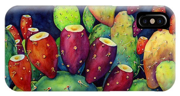 Summer Fruit iPhone Case - Prickly Pear by Hailey E Herrera