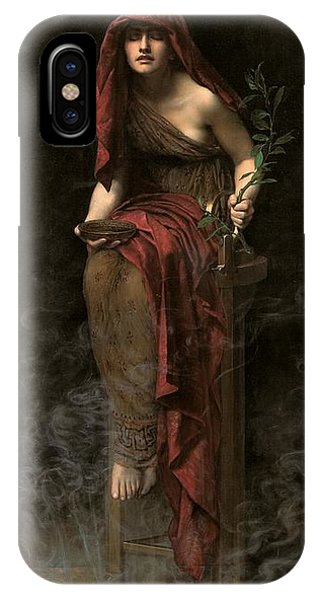 Myth iPhone Case - Priestess Of Delphi by John Collier