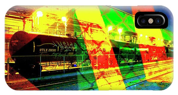 iPhone Case - Primary Night Train by Jack Eadon Dave Sommars