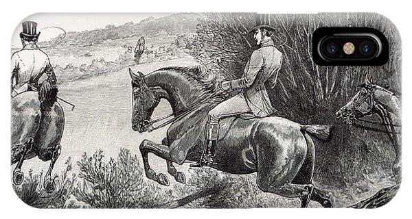 Prince Albert Hunting Near Belvoir Castle  IPhone Case