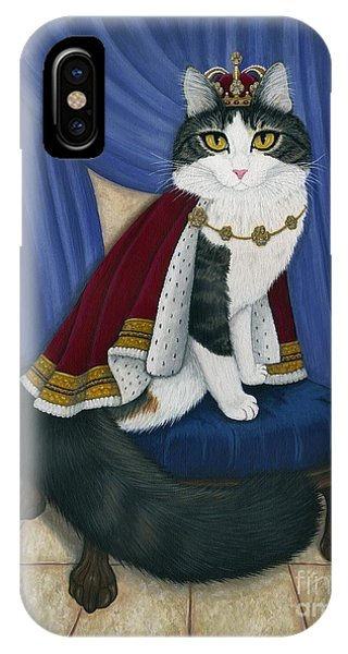 Prince Anakin The Two Legged Cat - Regal Royal Cat IPhone Case