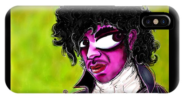 Purple Rain iPhone Case - Prince by Angie Snapp