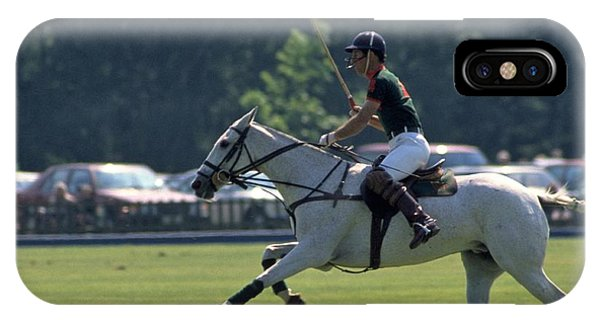 Prince Charles Playing Polo At Windsor IPhone Case