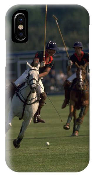 Michel Guntern iPhone Case - Prince Charles Playing Polo by Travel Pics