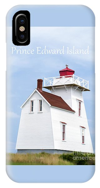 Condo iPhone Case - Prince Edward Island Lighthouse Poster by Edward Fielding