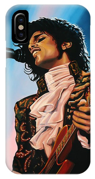 Diamond iPhone Case - Prince Painting by Paul Meijering