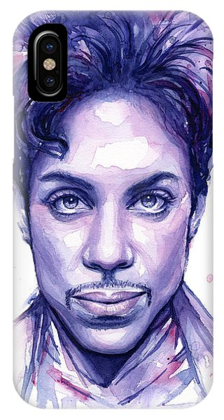 Prince Purple Watercolor IPhone Case