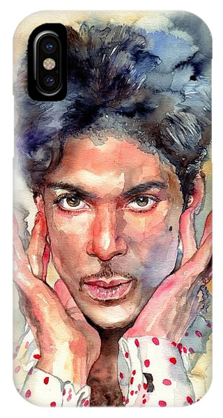 People iPhone Case - Prince Rogers Nelson Portrait by Suzann's Art