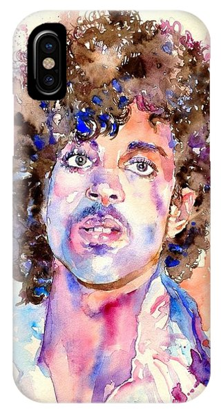Legends Music iPhone Case - Prince Rogers Nelson Watercolor by Suzann's Art