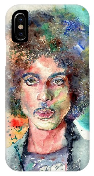 Legends Music iPhone Case - Prince Rogers Nelson Young Portrait by Suzann's Art
